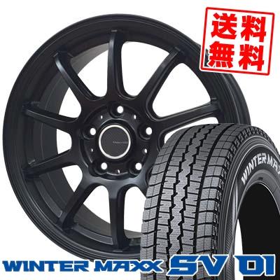 215/70R15 107/105L DUNLOP ダンロップ WINTER MAXX SV01 ウインターマックス SV01 LCZ 010R LCZ 010R スタッドレスタイヤホイール4本セット