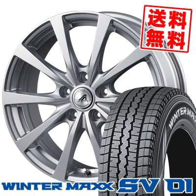 205/70R15 104/102L DUNLOP ダンロップ WINTER MAXX SV01 ウインターマックス SV01 AZ SPORTS EX10 AZスポーツ EX10 スタッドレスタイヤホイール4本セット