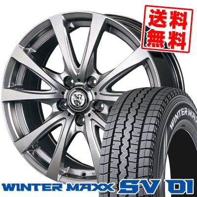 215/70R15 DUNLOP ダンロップ WINTER MAXX SV01 ウインターマックス SV01 TRG-BAHN TRG バーン スタッドレスタイヤホイール4本セット