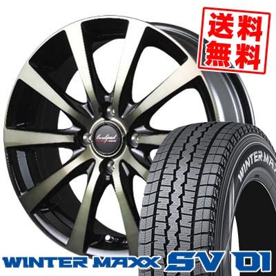 145/80R12 DUNLOP ダンロップ WINTER MAXX SV01 ウインターマックス SV01 EuroSpeed BL10 ユーロスピード BL10 スタッドレスタイヤホイール4本セット