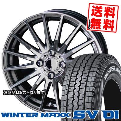 215/70R15 107/105L DUNLOP ダンロップ WINTER MAXX SV01 ウインターマックス SV01 CIRCLAR VERSION DF サーキュラー バージョン DF スタッドレスタイヤホイール4本セット