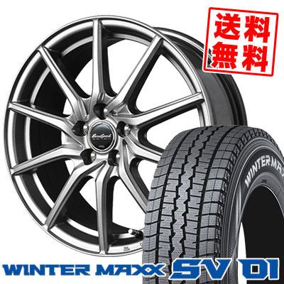215/70R15 107/105L DUNLOP ダンロップ WINTER MAXX SV01 ウインターマックス SV01 EuroSpeed G810 ユーロスピード G810 スタッドレスタイヤホイール4本セット