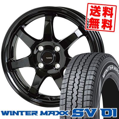 165R14 6PR DUNLOP ダンロップ WINTER MAXX SV01 ウインターマックス SV01 G.speed G-03 Gスピード G-03 スタッドレスタイヤホイール4本セット