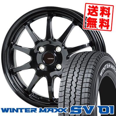 175R14 6PR DUNLOP ダンロップ WINTER MAXX SV01 ウインターマックス SV01 G.speed G-04 Gスピード G-04 スタッドレスタイヤホイール4本セット