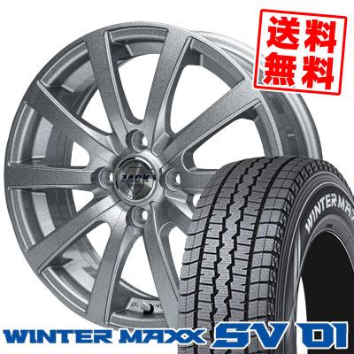 155R12 8PR DUNLOP ダンロップ WINTER MAXX SV01 ウインターマックス SV01 ZACK JP-110 ザック JP110 スタッドレスタイヤホイール4本セット