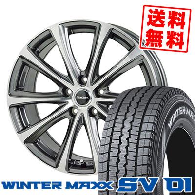 215/70R15 107/105L DUNLOP ダンロップ WINTER MAXX SV01 ウインターマックス SV01 Laffite LE-04 ラフィット LE-04 スタッドレスタイヤホイール4本セット