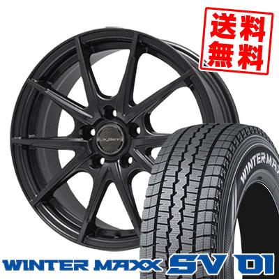 215/70R15 DUNLOP ダンロップ WINTER MAXX SV01 ウインターマックス SV01 LeyBahn WGS レイバーン WGS スタッドレスタイヤホイール4本セット