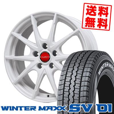 195/70R15 DUNLOP ダンロップ WINTER MAXX SV01 ウインターマックス SV01 LeyBahn WGS レイバーン WGS スタッドレスタイヤホイール4本セット