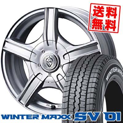 215/70R15 DUNLOP ダンロップ WINTER MAXX SV01 ウインターマックス SV01 Treffer MH トレファーMH スタッドレスタイヤホイール4本セット