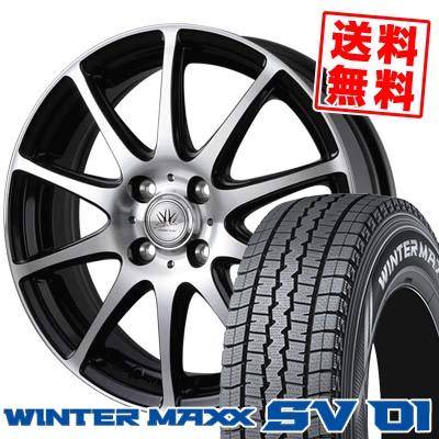 165/80R14 DUNLOP ダンロップ WINTER MAXX SV01 ウインターマックス SV01 BADX LOXARNY SPORT RS-10 バドックス ロクサーニ スポーツ RS-10 スタッドレスタイヤホイール4本セット