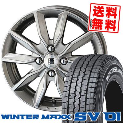 175R14 6PR DUNLOP ダンロップ WINTER MAXX SV01 ウインターマックス SV01 SEIN SV ザイン エスブイ スタッドレスタイヤホイール4本セット