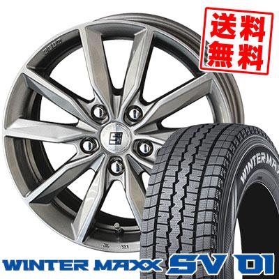 215/70R15 107/105L DUNLOP ダンロップ WINTER MAXX SV01 ウインターマックス SV01 SEIN SV ザイン エスブイ スタッドレスタイヤホイール4本セット