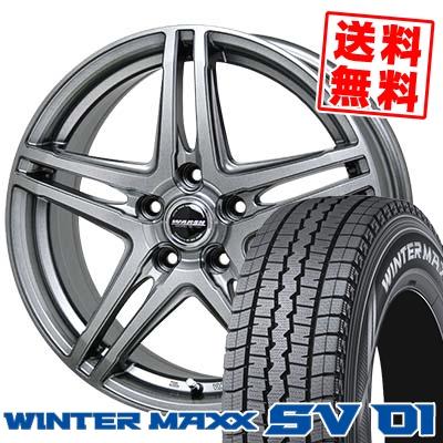 215/70R15 107/105L DUNLOP ダンロップ WINTER MAXX SV01 ウインターマックス SV01 WAREN W04 ヴァーレン W04 スタッドレスタイヤホイール4本セット