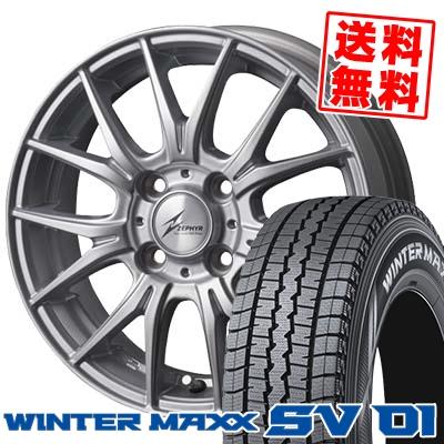 175R14 6PR DUNLOP ダンロップ WINTER MAXX SV01 ウインターマックス SV01 ZEPHYR M2 ゼファー M2 スタッドレスタイヤホイール4本セット