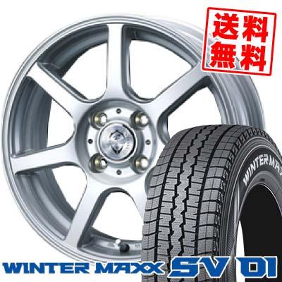 ウインターマックス SV01 155R13 6PR トレファーZR シルバー スタッドレスタイヤホイール 4本 セット