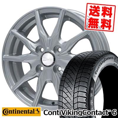 185/60R15 CONTINENTAL コンチネンタル ContiVikingContact6 コンチバイキングコンタクト6 B-WIN KRX B-WIN KRX スタッドレスタイヤホイール4本セット