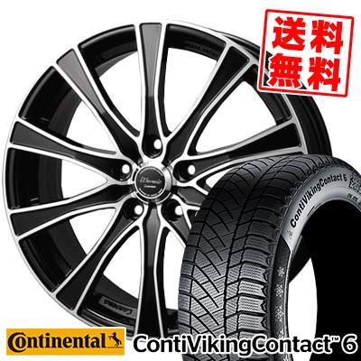 215/55R17 CONTINENTAL コンチネンタル ContiVikingContact6 コンチバイキングコンタクト6 Warwic Carozza ワーウィック カロッツァ スタッドレスタイヤホイール4本セット