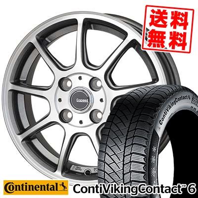 175/65R14 CONTINENTAL コンチネンタル ContiVikingContact6 コンチバイキングコンタクト6 G.Speed P-01 Gスピード P-01 スタッドレスタイヤホイール4本セット