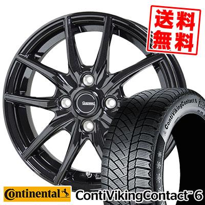 175/65R14 CONTINENTAL コンチネンタル ContiVikingContact6 コンチバイキングコンタクト6 G.speed G-02 Gスピード G-02 スタッドレスタイヤホイール4本セット
