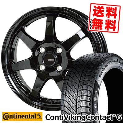 185/65R15 92T XL CONTINENTAL コンチネンタル ContiVikingContact6 コンチバイキングコンタクト6 G.speed G-03 Gスピード G-03 スタッドレスタイヤホイール4本セット