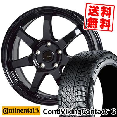 G-03 CONTINENTAL ContiVikingContact6 95T コンチバイキングコンタクト6 スタッドレスタイヤホイール4本セット【取付対象】 195/65R15 XL G-03 Gスピード G.speed コンチネンタル