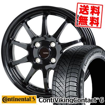 185/60R14 ContiVikingContact6 82T スタッドレスタイヤホイール4本セット【取付対象】 コンチネンタル G-04 Gスピード G.speed G-04 コンチバイキングコンタクト6 CONTINENTAL