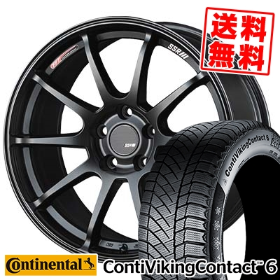 215/60R17 96T CONTINENTAL コンチネンタル ContiVikingContact6 コンチバイキングコンタクト6 SSR GTV02 SSR GTV02 スタッドレスタイヤホイール4本セット