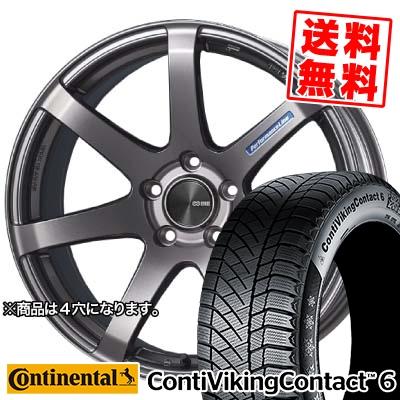 185/65R15 CONTINENTAL コンチネンタル ContiVikingContact6 コンチバイキングコンタクト6 ENKEI PerformanceLine PF-07 エンケイ パフォーマンスライン PF07 スタッドレスタイヤホイール4本セット
