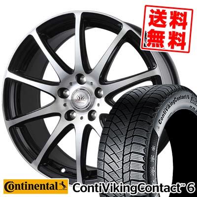 245/45R18 CONTINENTAL コンチネンタル ContiVikingContact6 コンチバイキングコンタクト6 BADX LOXARNY SPORT RS-10 バドックス ロクサーニ スポーツ RS-10 スタッドレスタイヤホイール4本セット