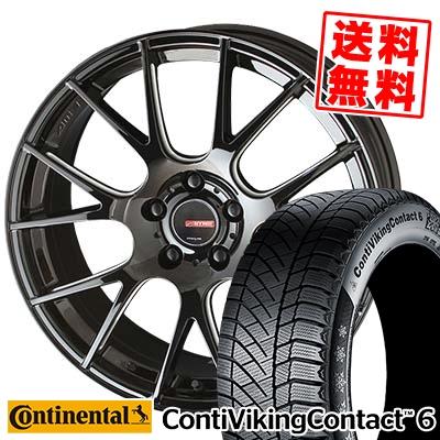 215/55R17 CONTINENTAL コンチネンタル ContiVikingContact6 コンチバイキングコンタクト6 CIRCLAR RM-7 サーキュラー RM-7 スタッドレスタイヤホイール4本セット