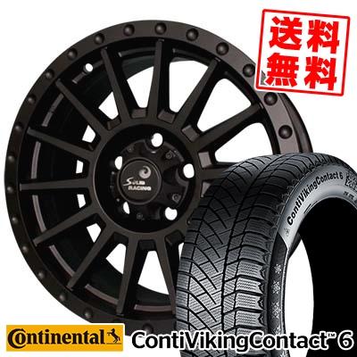 215/60R16 CONTINENTAL コンチネンタル ContiVikingContact6 コンチバイキングコンタクト6 turbine S1 タービン S1 スタッドレスタイヤホイール4本セット