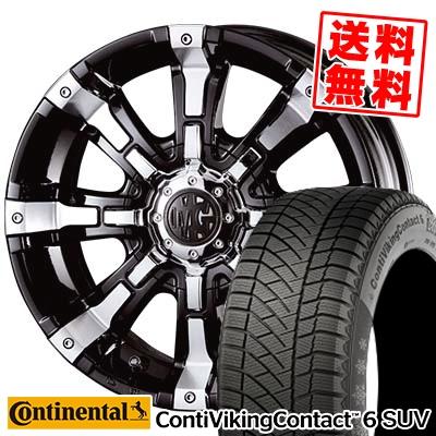 215/65R16 CONTINENTAL コンチネンタル ContiVikingContact6 SUV コンチバイキングコンタクト6 SUV MG BEAST MG ビースト スタッドレスタイヤホイール4本セット
