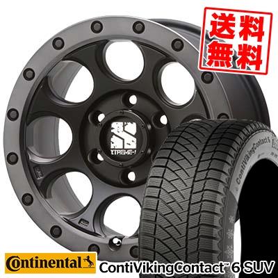245/65R17 CONTINENTAL コンチネンタル ContiVikingContact6 SUV コンチバイキングコンタクト6 SUV XTREME-J XJ03 エクストリームJ XJ-03 スタッドレスタイヤホイール4本セット