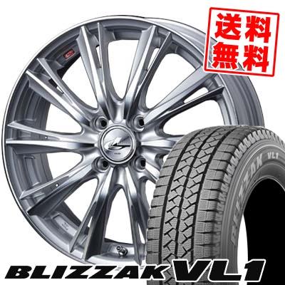 165R14 6PR BRIDGESTONE ブリヂストン BLIZZAK VL-1 ブリザック VL1 weds LEONIS WX ウエッズ レオニス WX スタッドレスタイヤホイール4本セット