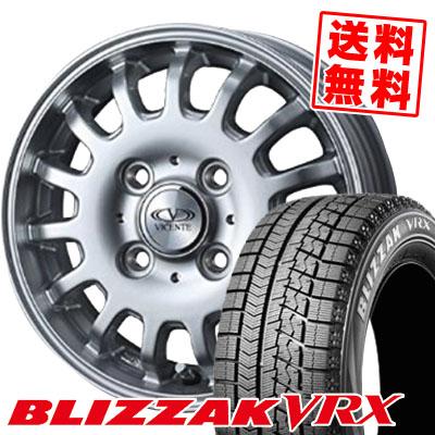 145/80R12 BRIDGESTONE ブリヂストン BLIZZAK VRX ブリザック VRX VICENTE-04CA ヴィセンテ04 CA スタッドレスタイヤホイール4本セット