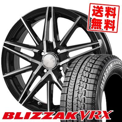 155/65R14 BRIDGESTONE ブリヂストン BLIZZAK VRX ブリザック VRX BLONKS TB01 ブロンクス TB01 スタッドレスタイヤホイール4本セット