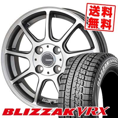 165/70R14 BRIDGESTONE ブリヂストン BLIZZAK VRX ブリザック VRX G.Speed P-01 Gスピード P-01 スタッドレスタイヤホイール4本セット
