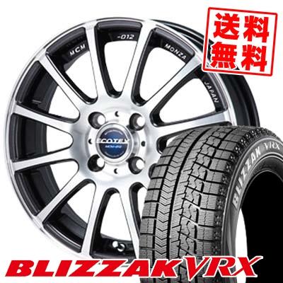 165/60R15 BRIDGESTONE ブリヂストン BLIZZAK VRX ブリザック VRX ECOTEX MCM-012 エコテック MCM-012 スタッドレスタイヤホイール4本セット