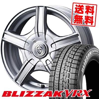 ブリザック VRX 185/55R15 82Q トレファーMH シルバー スタッドレスタイヤホイール 4本 セット