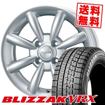 165/70R14 81Q BRIDGESTONE ブリヂストン BLIZZAK VRX ブリザック VRX AGA Saksen AGA ザクセン スタッドレスタイヤホイール4本セット【 for VW 】