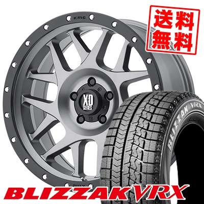 215/65R16 BRIDGESTONE ブリヂストン BLIZZAK VRX ブリザック VRX KMC XD127 BULLY KMC XD127 ブリー スタッドレスタイヤホイール4本セット