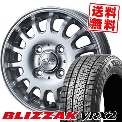 165/65R14 BRIDGESTONE ブリヂストン BLIZZAK VRX2 ブリザック VRX2 VICENTE-04EV ヴィセンテ04 EV スタッドレスタイヤホイール4本セット