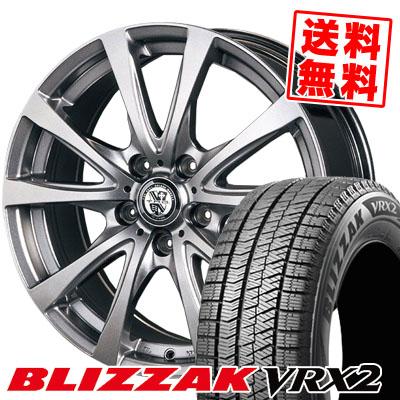205/60R15 BRIDGESTONE ブリヂストン BLIZZAK VRX2 ブリザック VRX2 TRG-BAHN TRG バーン スタッドレスタイヤホイール4本セット
