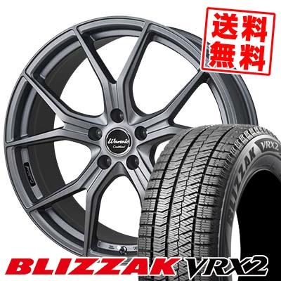 215/45R18 BRIDGESTONE ブリヂストン BLIZZAK VRX2 ブリザック VRX2 MONZA Warwic Coulthard モンツァ ワーウィック クルサード スタッドレスタイヤホイール4本セット【取付対象】