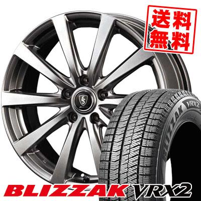 205/65R15 BRIDGESTONE ブリヂストン BLIZZAK VRX2 ブリザック VRX2 Euro Speed G10 ユーロスピード G10 スタッドレスタイヤホイール4本セット