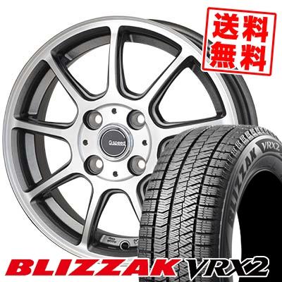 185/65R15 BRIDGESTONE ブリヂストン BLIZZAK VRX2 ブリザック VRX2 G.Speed P-01 Gスピード P-01 スタッドレスタイヤホイール4本セット