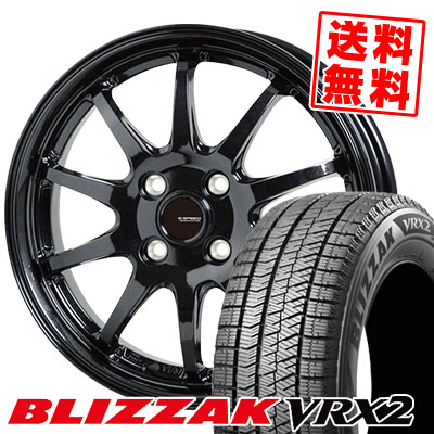 175/65R15 84Q BRIDGESTONE ブリヂストン BLIZZAK VRX2 ブリザック VRX2 G.speed G-04 Gスピード G-04 スタッドレスタイヤホイール4本セット