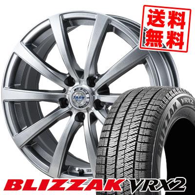 235/40R18 BRIDGESTONE ブリヂストン BLIZZAK VRX2 ブリザック VRX2 ZACK JP-110 ザック JP110 スタッドレスタイヤホイール4本セット