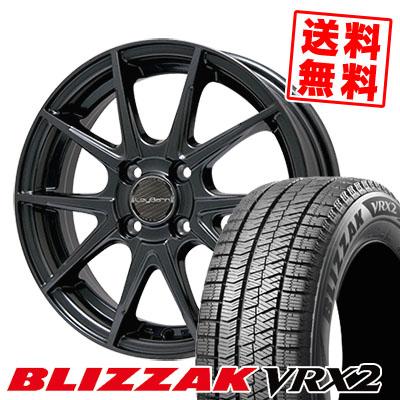 185/60R14 BRIDGESTONE ブリヂストン BLIZZAK VRX2 ブリザック VRX2 LeyBahn WGS レイバーン WGS スタッドレスタイヤホイール4本セット