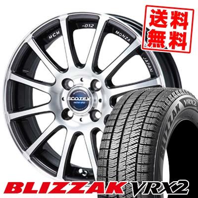 175/65R15 BRIDGESTONE ブリヂストン BLIZZAK VRX2 ブリザック VRX2 ECOTEX MCM-012 エコテック MCM-012 スタッドレスタイヤホイール4本セット
